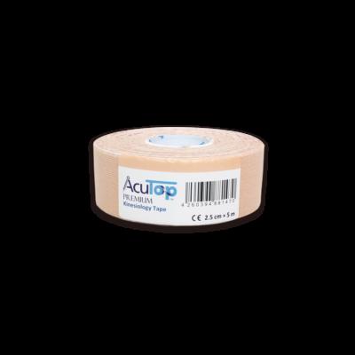 AcuTop Prémium kineziológiai tapasz - 2,5 cm x 5 m (bézs)