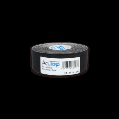 AcuTop Prémium kineziológiai tapasz - 2,5 cm x 5 m (fekete)