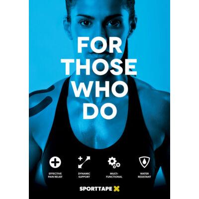 Sporttape plakát - kék (A3)