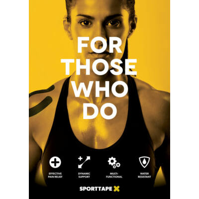 Sporttape plakát - sárga (A3)