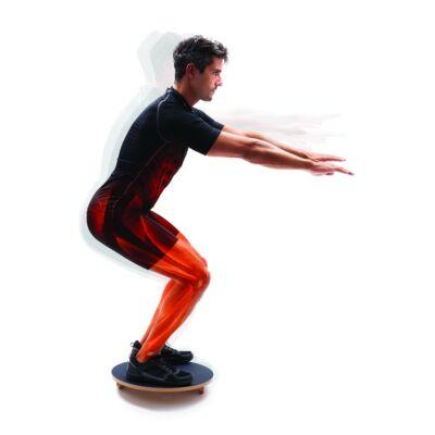 66fit Balance/Rocker Board - fa egyensúlyozó korong szett (45cm)