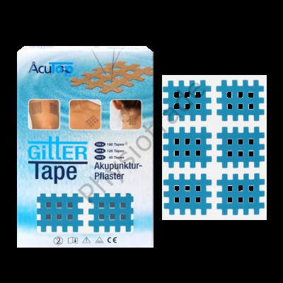 """AcuTop Gitter Tape / Cross Tape """"közepes méret"""" - kék (doboz/20ív)"""