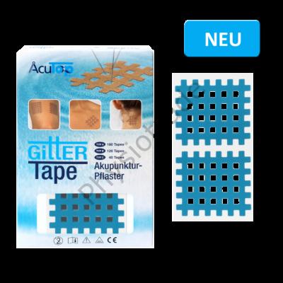 "AcuTop Gitter Tape / Cross Tape ""nagy méret"" - kék (doboz/20ív)"