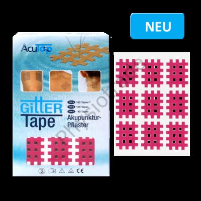 "AcuTop Gitter Tape / Cross Tape ""kis méret"" - pink (doboz/20ív)"