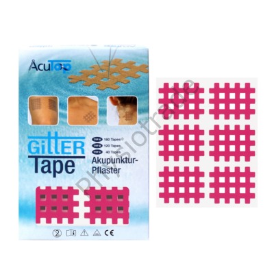 """AcuTop Gitter Tape / Cross Tape """"közepes méret"""" - pink (doboz/20ív)"""