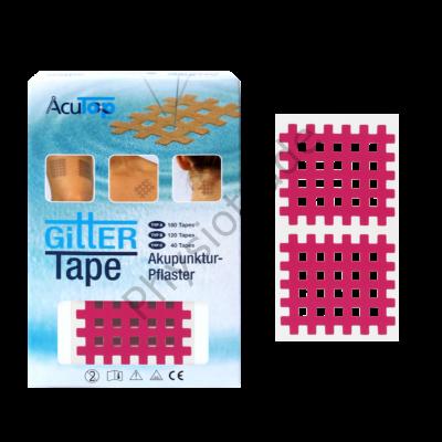 """AcuTop Gitter Tape / Cross Tape """"nagy méret"""" - pink (doboz/20ív)"""