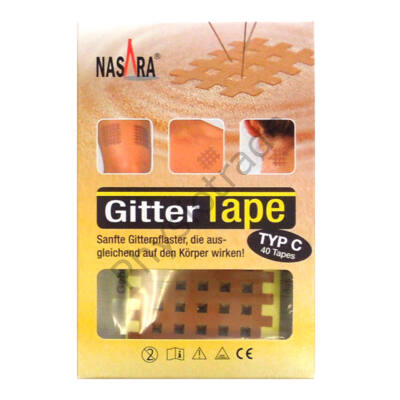 "Nasara Gitter Tape / Cross Tape ""nagy méret"" (doboz/20ív)"