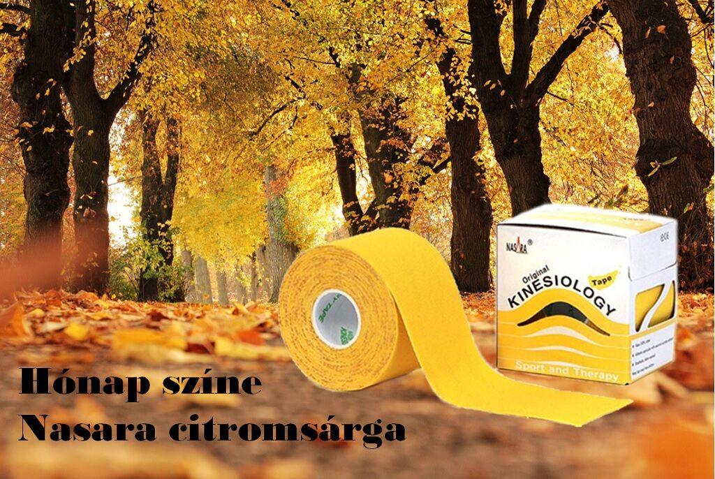 október hónap színe Nasara citrom