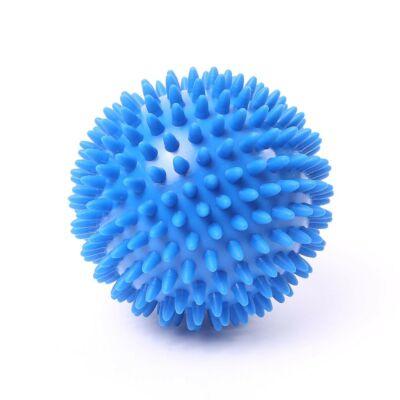 66fit 10cm-es tüskés masszírozó labda - kemény - kék