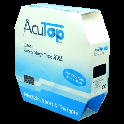 AcuTop Classic kineziológiai tapasz XXL (fekete)