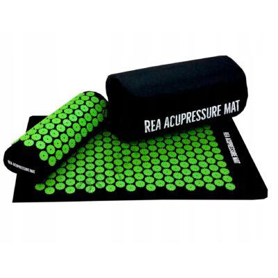 REA akupresszúrás szőnyeg szett zöld