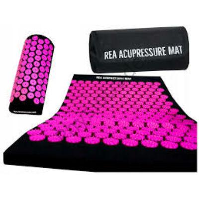 REA akupresszúrás szőnyeg szett pink