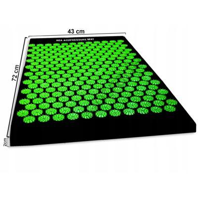 REA akupresszúrás szőnyeg zöld