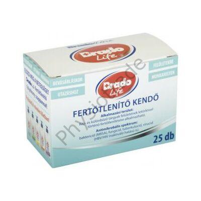 Bradolife fertőtlenítő kendő 25 db (kézre, felületre)