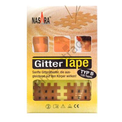 """Nasara Gitter Tape / Cross Tape """"közepes méret"""" (doboz/20ív)"""